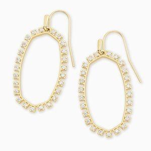 Kendra Scott Elle open frame crystal drop earrings